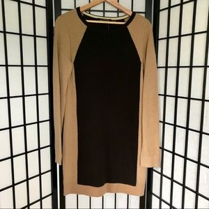 Magaschoni Cashmere Two Toned Brown Dress